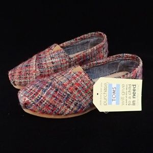 Toms Red Boucle Shoes 6 - NIB